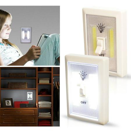 - TSV COB LED Wall Switch Wireless Battery Operated Closet Cordless Night Light