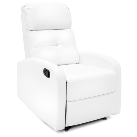 Best Choice Products Home Theater Leather Recliner Chair White