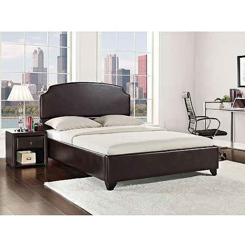 maison eastern king upholstered bed vintage espresso faux leather