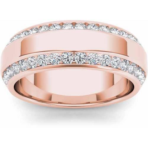Imperial 7/8 Carat T.W. Diamond Men's 14kt Rose Gold Wedding Band