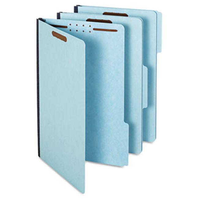 Globe-Weis 61552 Pressboard Folders- 2'' Expansion- 2 Fasteners- 1/3 Cut- Lgl- Light Blue- 25/Box