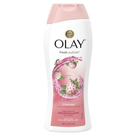 387d3501b15a Olay Fresh Outlast Cooling White Strawberry   Mint Body Wash 22 oz ...