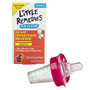 Little Remedies Fever Pain Reliever with Medicine Pacifier Dispenser, Pink