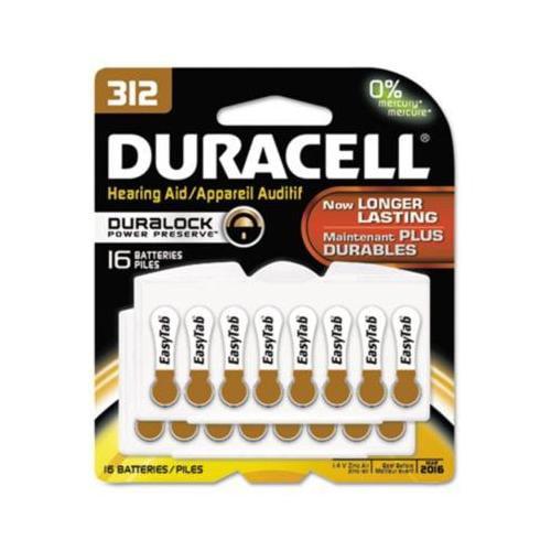 Button Cell Hearing Aid Battery DURDA312B16ZM09