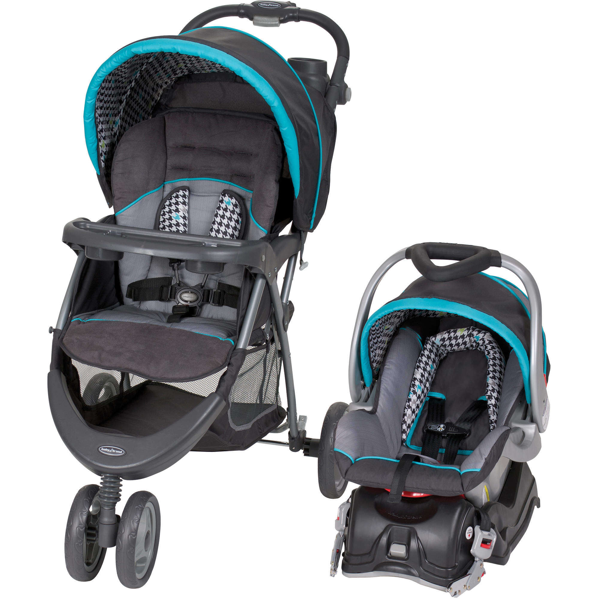 Baby Trend EZ Ride 5 Travel System, Houndstooth updated by Baby Trend