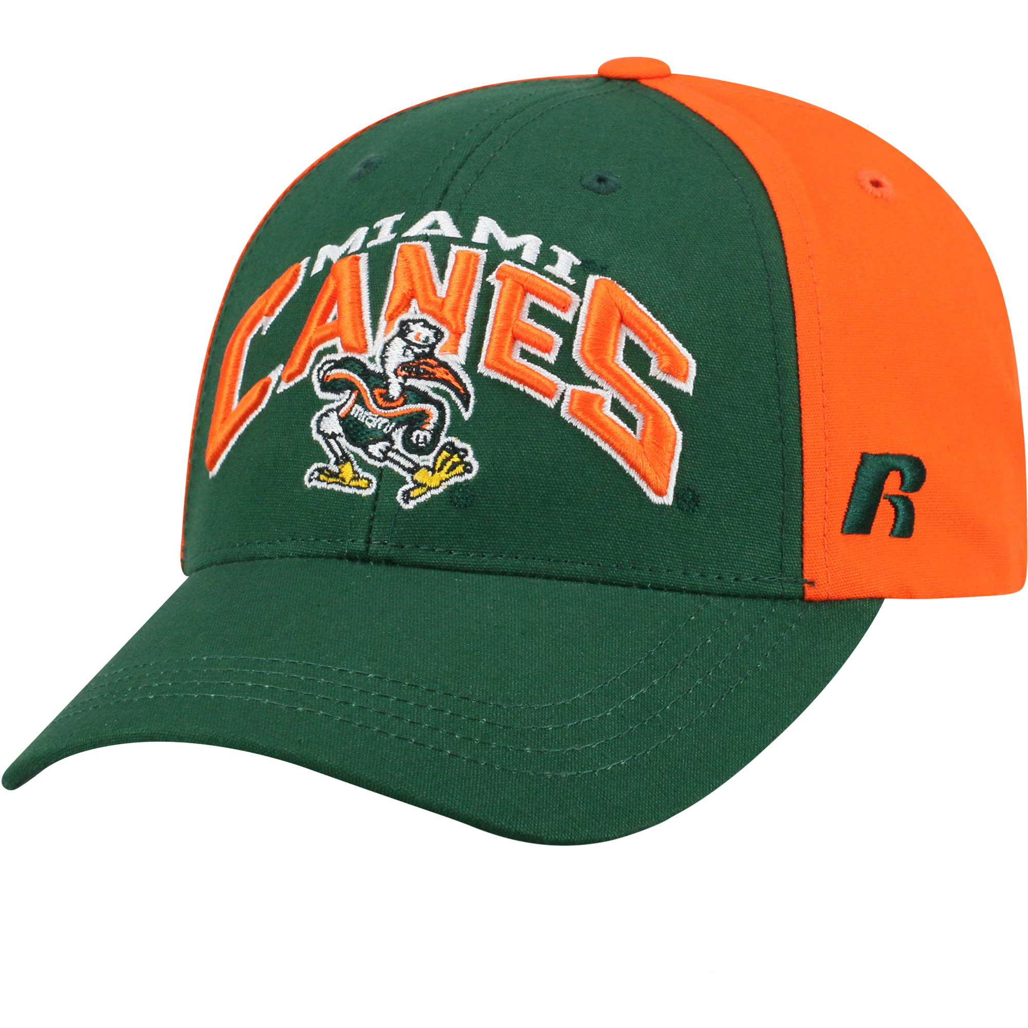 Men's Green/Orange Miami Hurricanes Tastic Adjustable Hat - OSFA