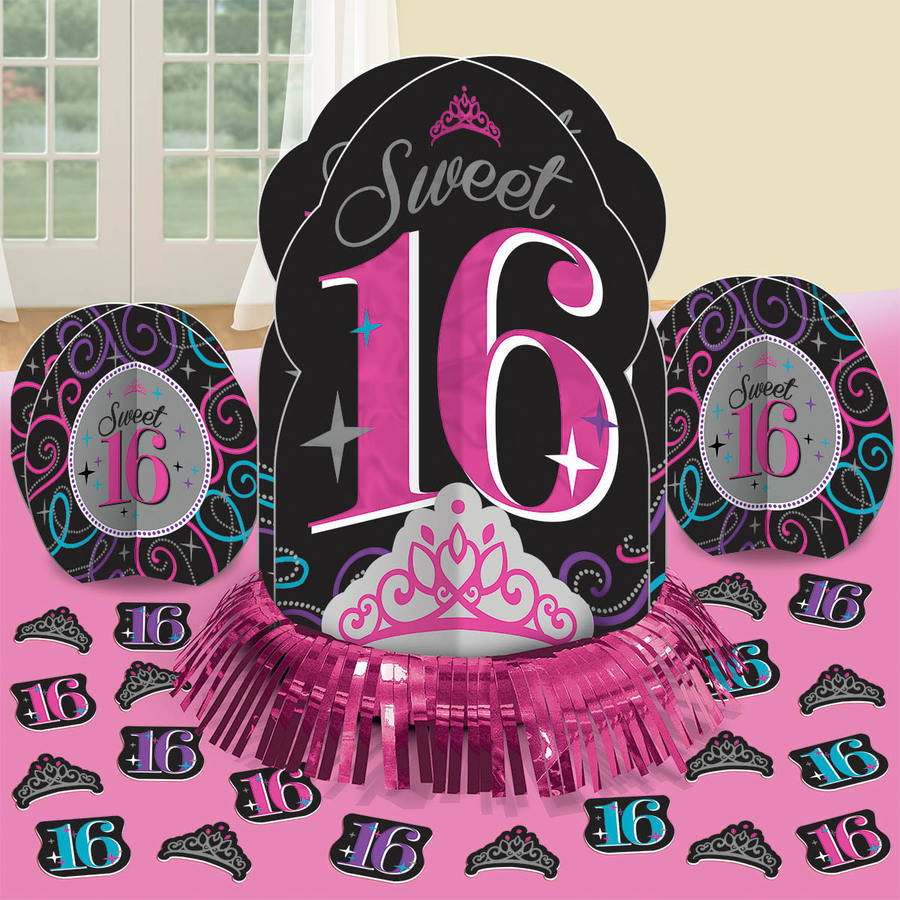 Sweet 16 Celebration Table Decorations