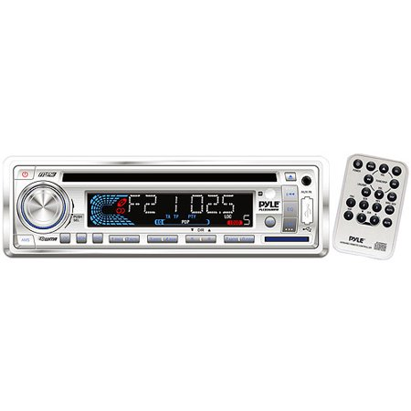 Pyle PLCD36MRW AM/FM-MPX In-Dash Marine MP3/CD Player