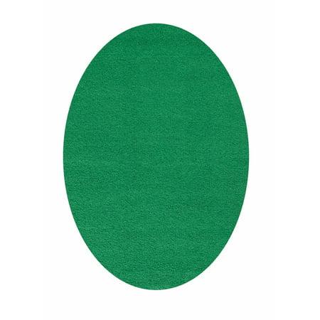 Home Queen Kids Favorite Solid Color Forest Green 2'X3' Oval - Door Mats