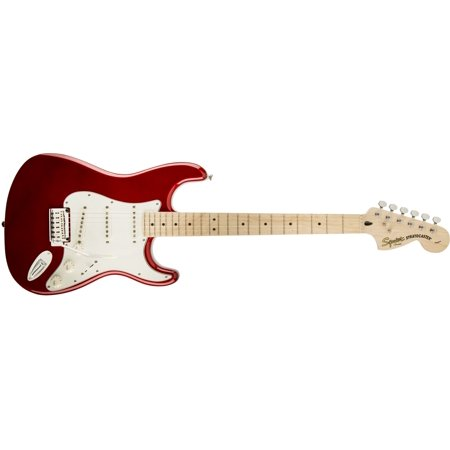 Fender Squier Standard Stratocaster Electric Guitar, Maple Fingerboard - Candy Apple