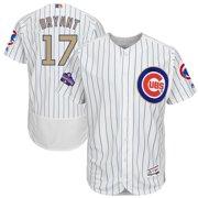 Kris Bryant Chicago Cubs Majestic 2017 Gold Program Flex Base Player Jersey - White
