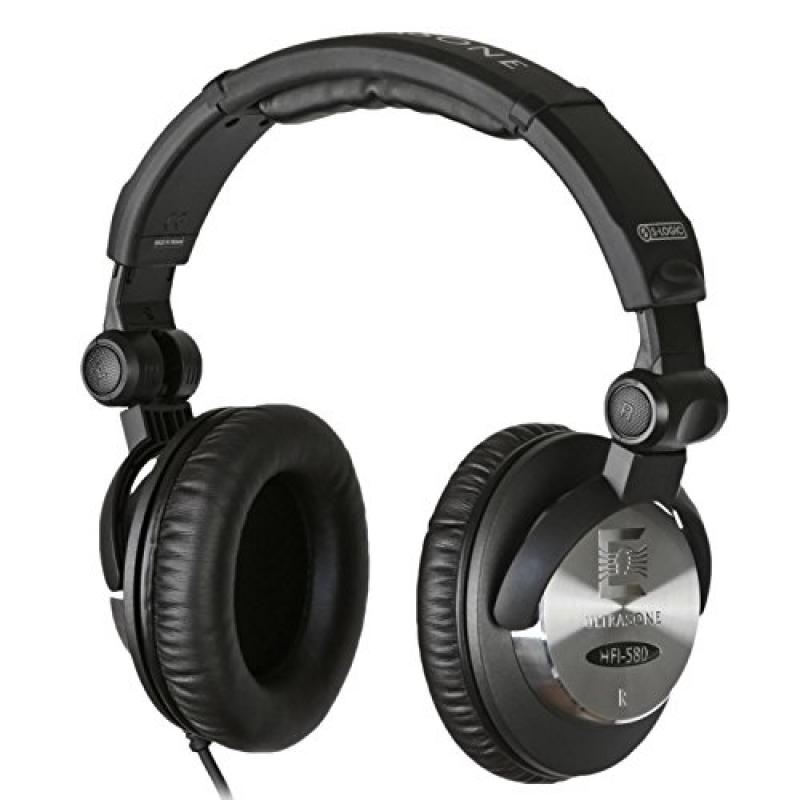 Ultrasone HFI-580 S-Logic Surround Sound Professional Closed-back Headphones with Transport Bag