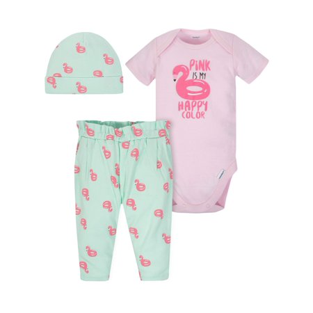Onesies Bodysuit, Pants and Cap, 3pc Outfit Set (Baby Girls) (Cowboy Girls Outfits)