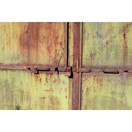Canvas Print Warehouse Door Rusty Metal Industrial Iron Old Stretched Canvas 10 x (Five Ten Warehouse Sale)