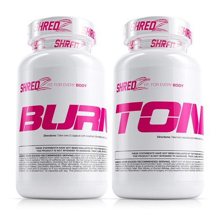 SHREDZ Shape & Tone Stack for Women , Tone Fat, Lose Weight, Best Ingredients,(Pack of
