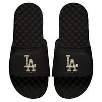 Los Angeles Dodgers ISlide Youth Camo Logo Slide Sandals - Black