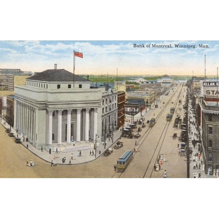 Winnepeg   Bank Of Montreal  Manitoba Canada Poster Print By Mary Evans  Grenville Collins Postcard Collection