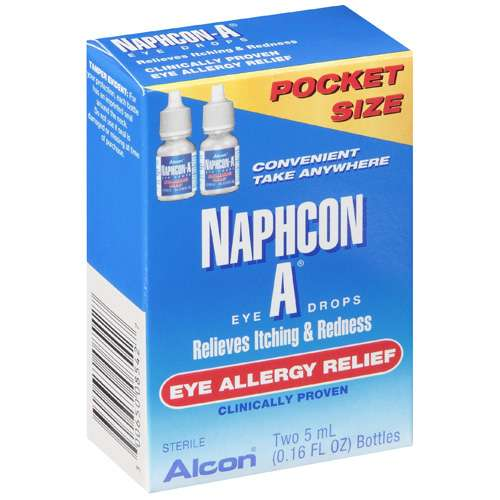 ALCON NAPHCON A Eye Allergy Relief Eye Drops - Pocket Pack - 2x5ml