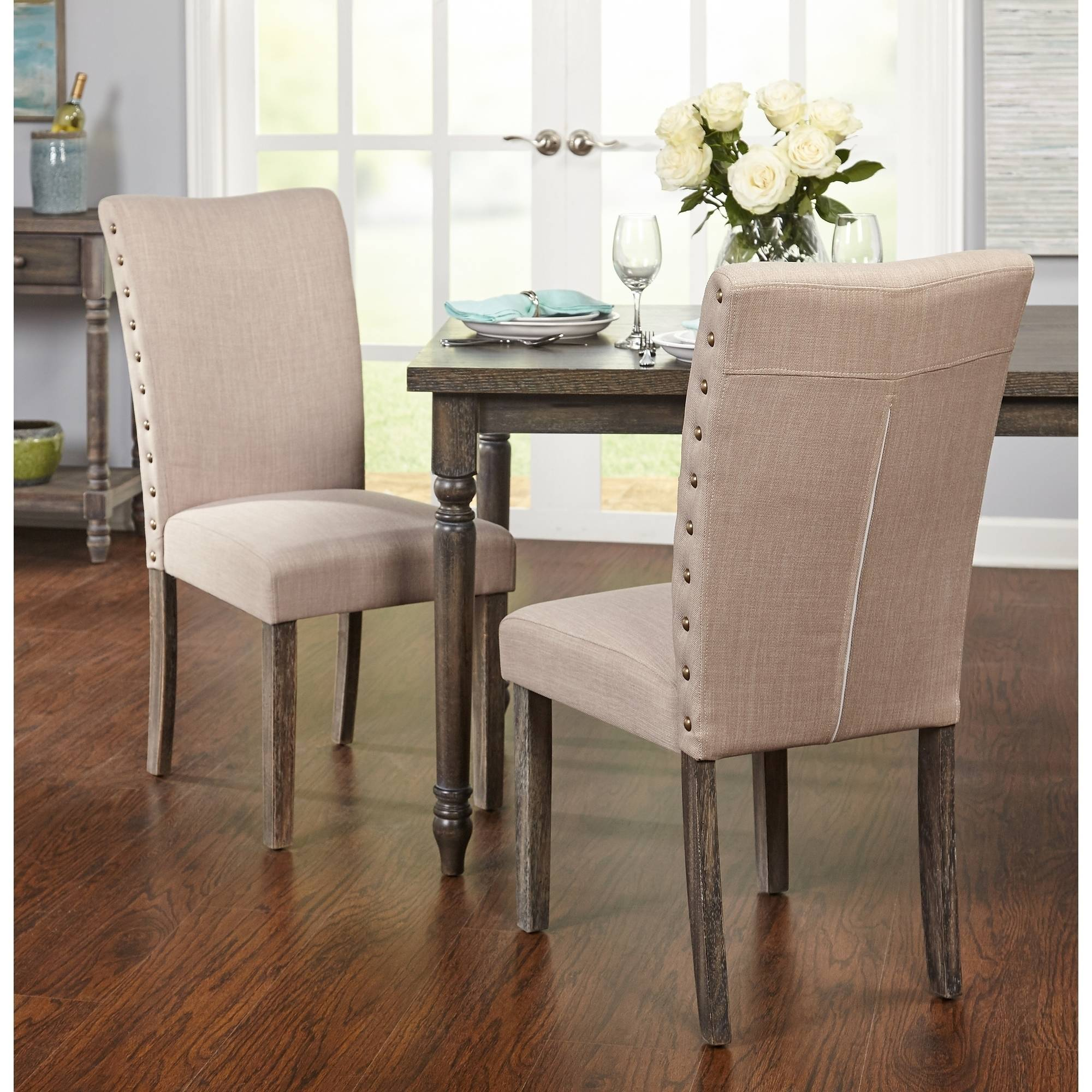 burswood parson chair set of 2 weathered gray