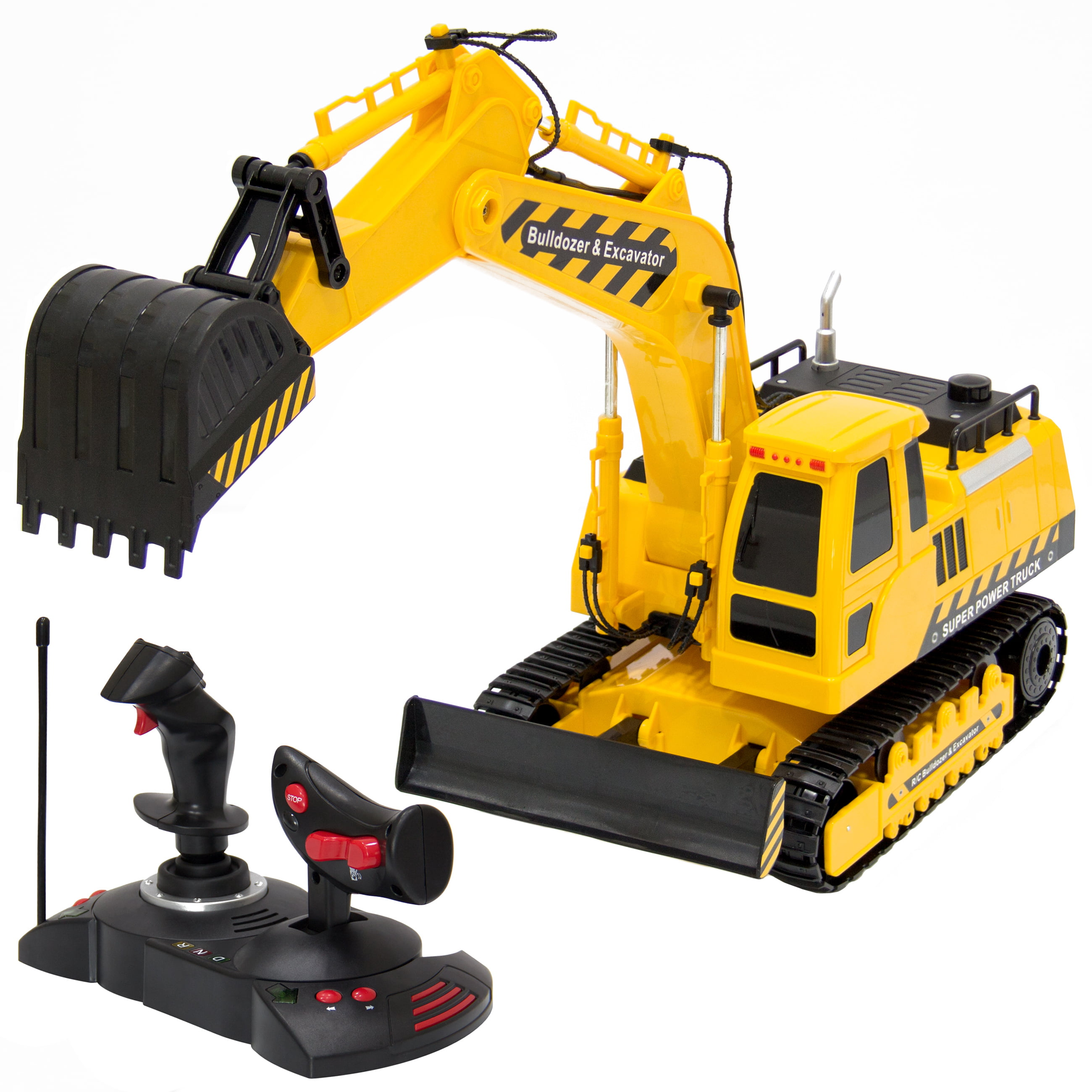 Best Choice Products 27MHz 1:18 RC Excavator Bulldozer Kids Remote Control Toy Tractor by Best Choice Products