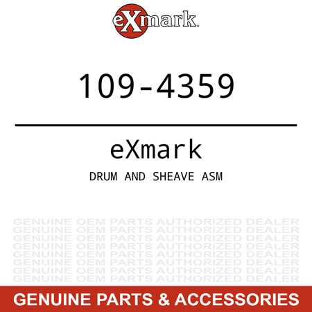 Drum Assembly (Exmark Toro Drum And Sheave Assembly 109-4359)