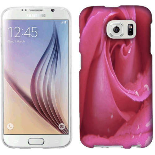 Mundaze Pink Rose Phone Case Cover for Samsung Galaxy S6