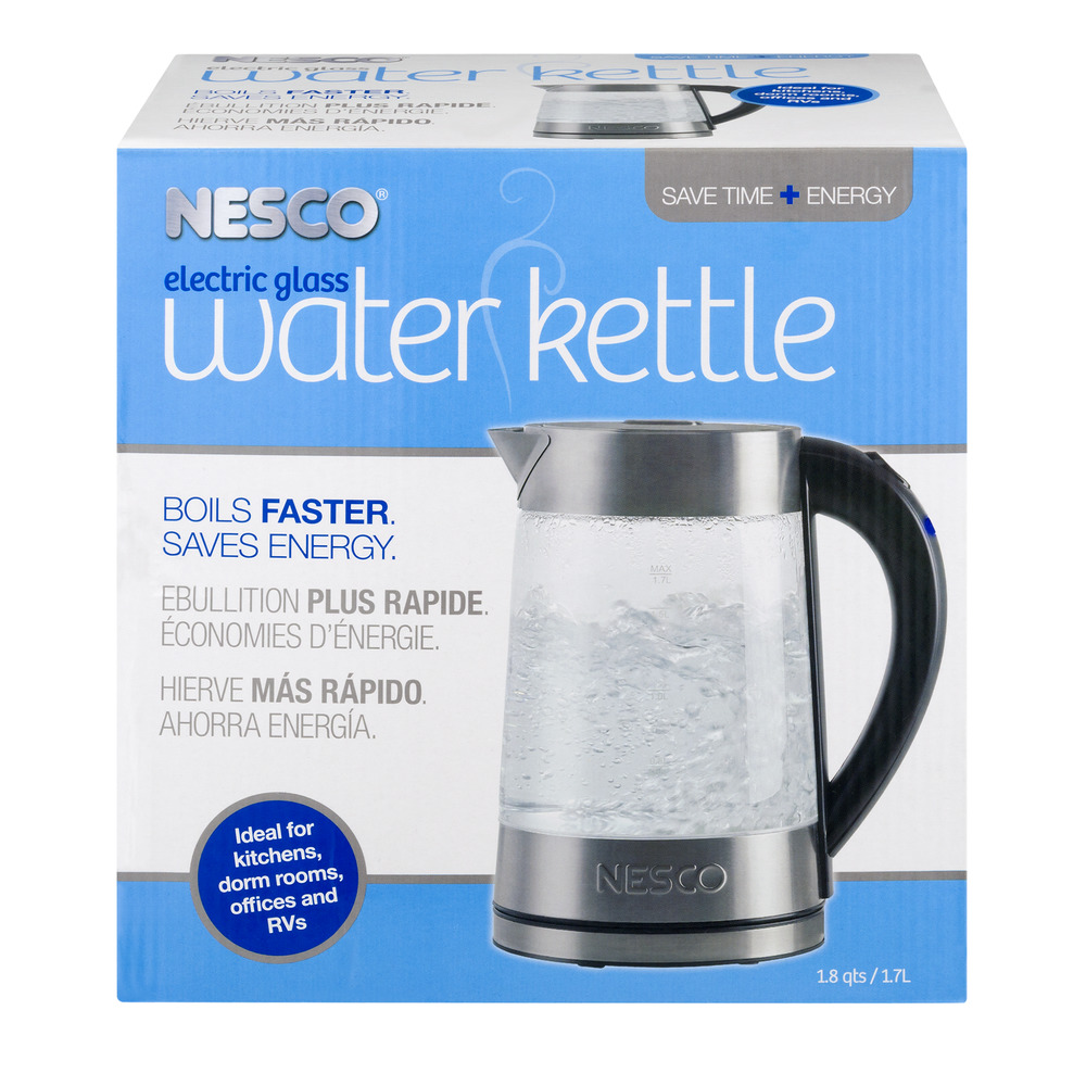 Nesco Electric Glass Water Kettle, 1.0 CT