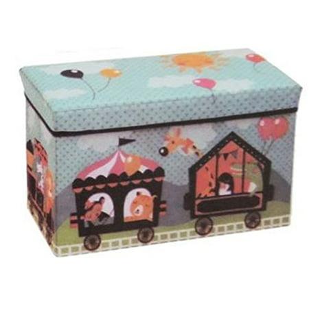 Childrens Folding Storage Ottoman Chest Animal Circus Train](Childrens Online Stores)