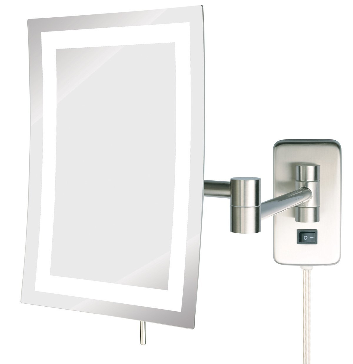 JRT710NL 6.5-Inch 9-Inch LED Lighted Wall Mount Rectangular Makeup ...