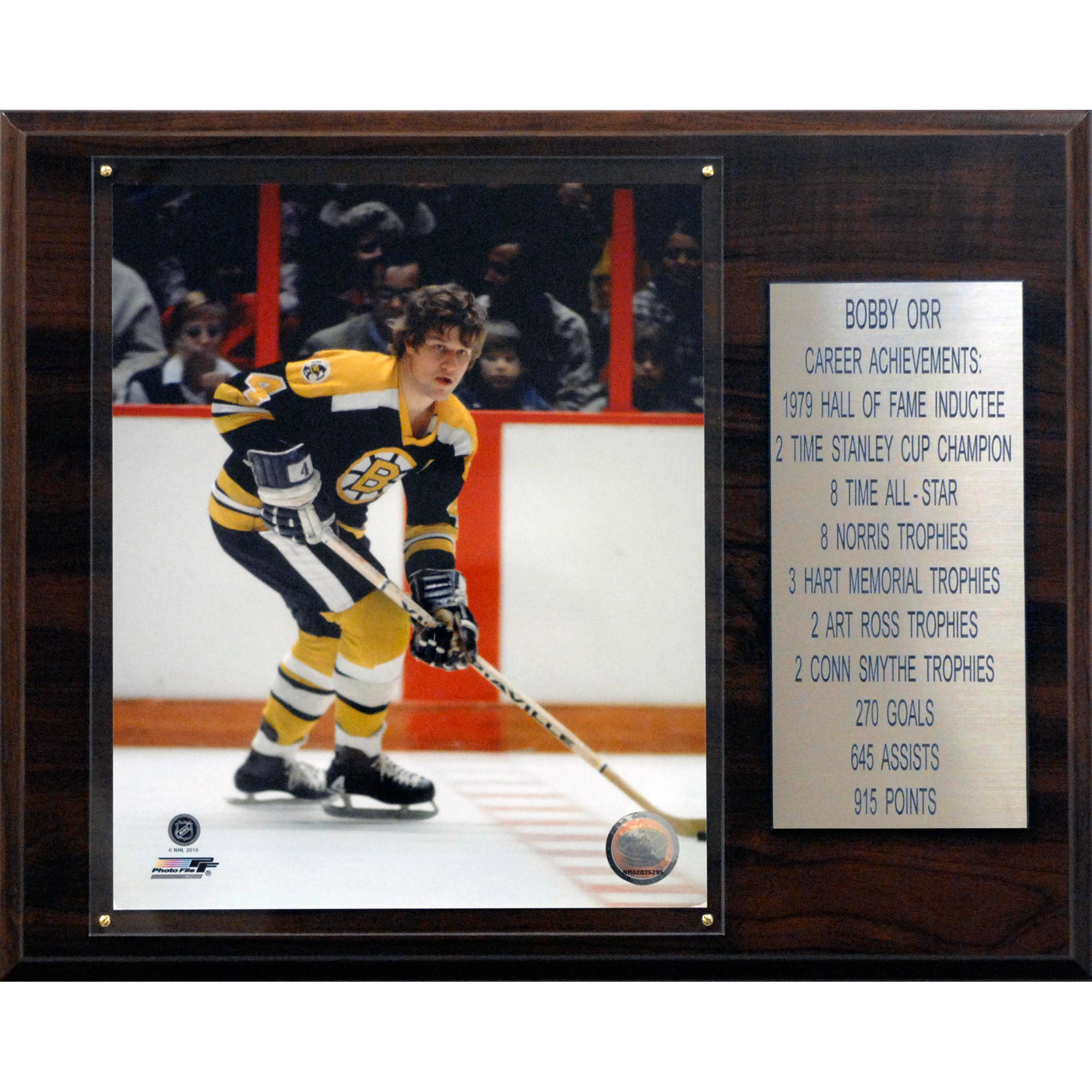 C&I Collectables NHL 12x15 Bobby Orr Boston Bruins Career Stat Plaque