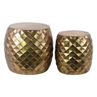 Urban Trends Collection: Metal Table, Metallic Finish, Brown