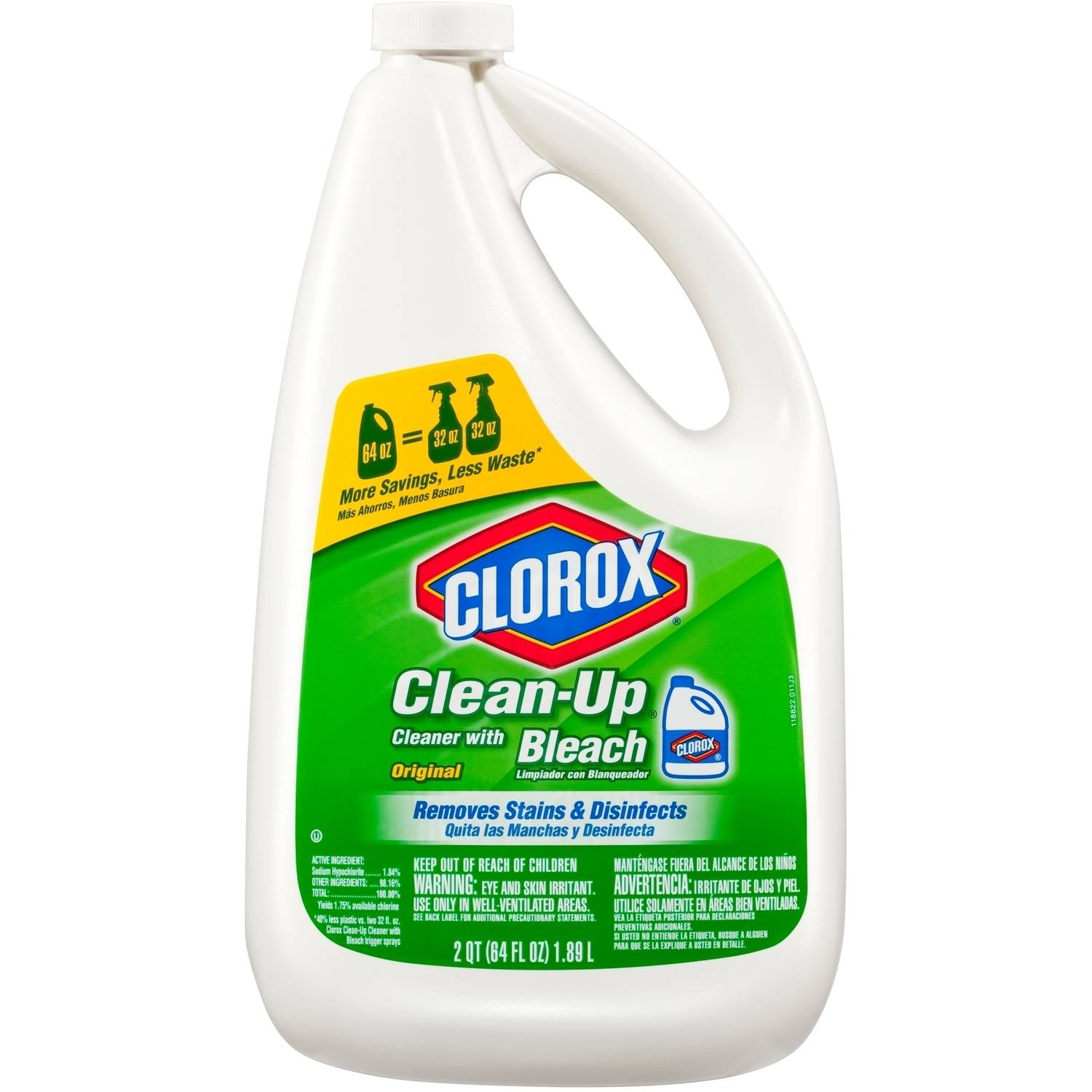 Clorox Clean-Up All Purpose Cleaner with Bleach, Refill Bottle, Original, 64 Ounces