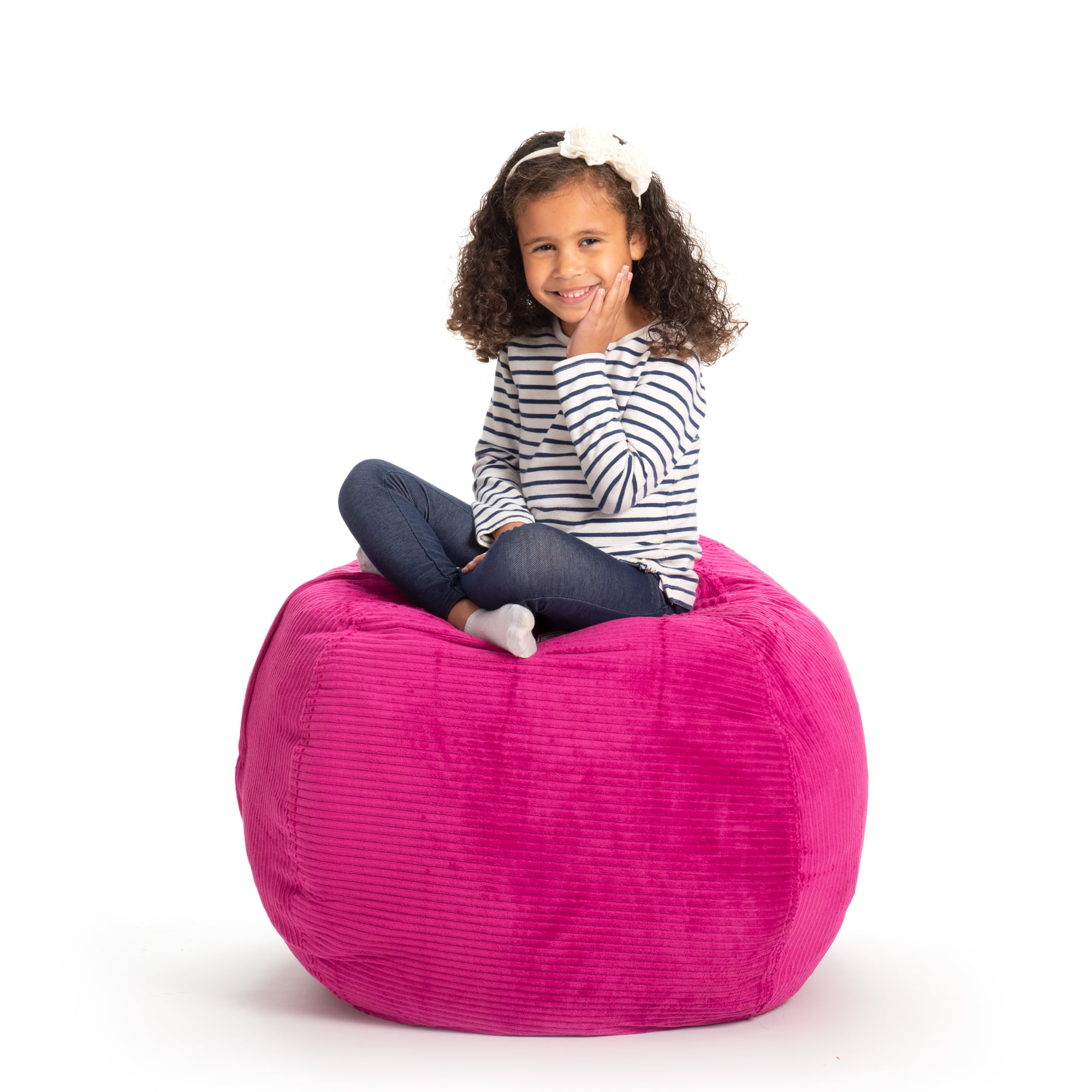 Comfortable Children Reading Bean Bag Chair Seating-Excellent Solution for Toys and Clothes Bean Bag for Kids Without Filler Large Ball Toy Bag Ideal Gift for Boys /& Girls