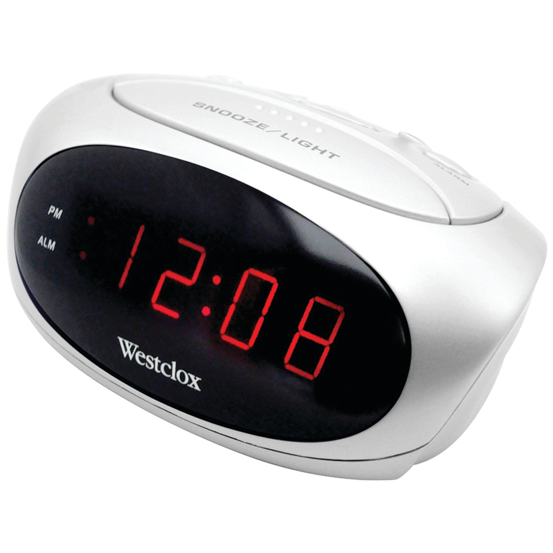 Westclox 70044B Super-Loud LED Electric Alarm Clock (White)