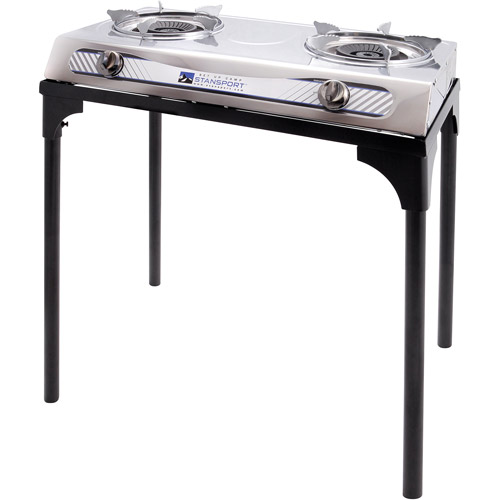 Stansport 2 Burner Stainless Steel Stove with Stand