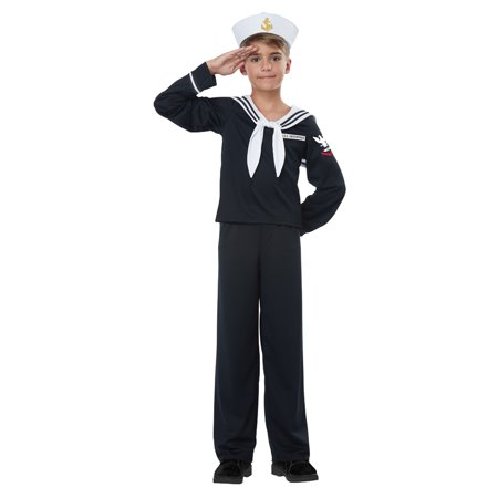 Kids Navy Sailor Uniform Halloween Costume - Navy Pin Up Girl Costume