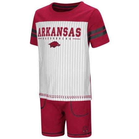 watch 4f11f 914f0 Arkansas Razorback Toddler Boy's Shorts and Baseball T-Shirt Set