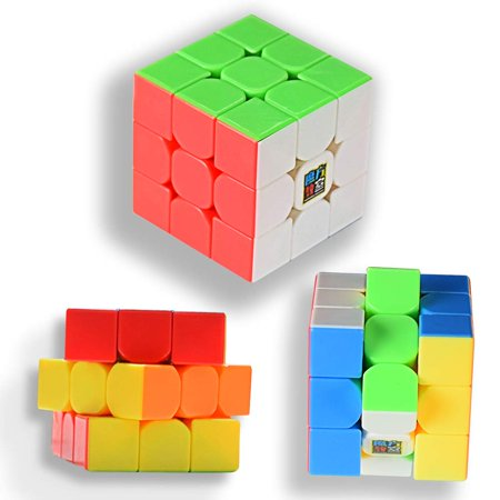 Jorlo 4 in 1 Set (2x2 3x3 4x4 5x5), 4 Pcs Speed Magic Rubik Cube 6 Color Puzzles Educational Special Toys, Brain Teaser Gift Box Develop Brain and Logic Thinking Ability Best