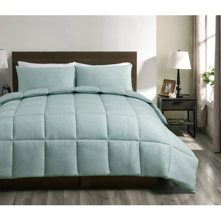 Super Collection 2pc Reversible Down Alternative Comforter set Green Color | Twin Size Bed Cover