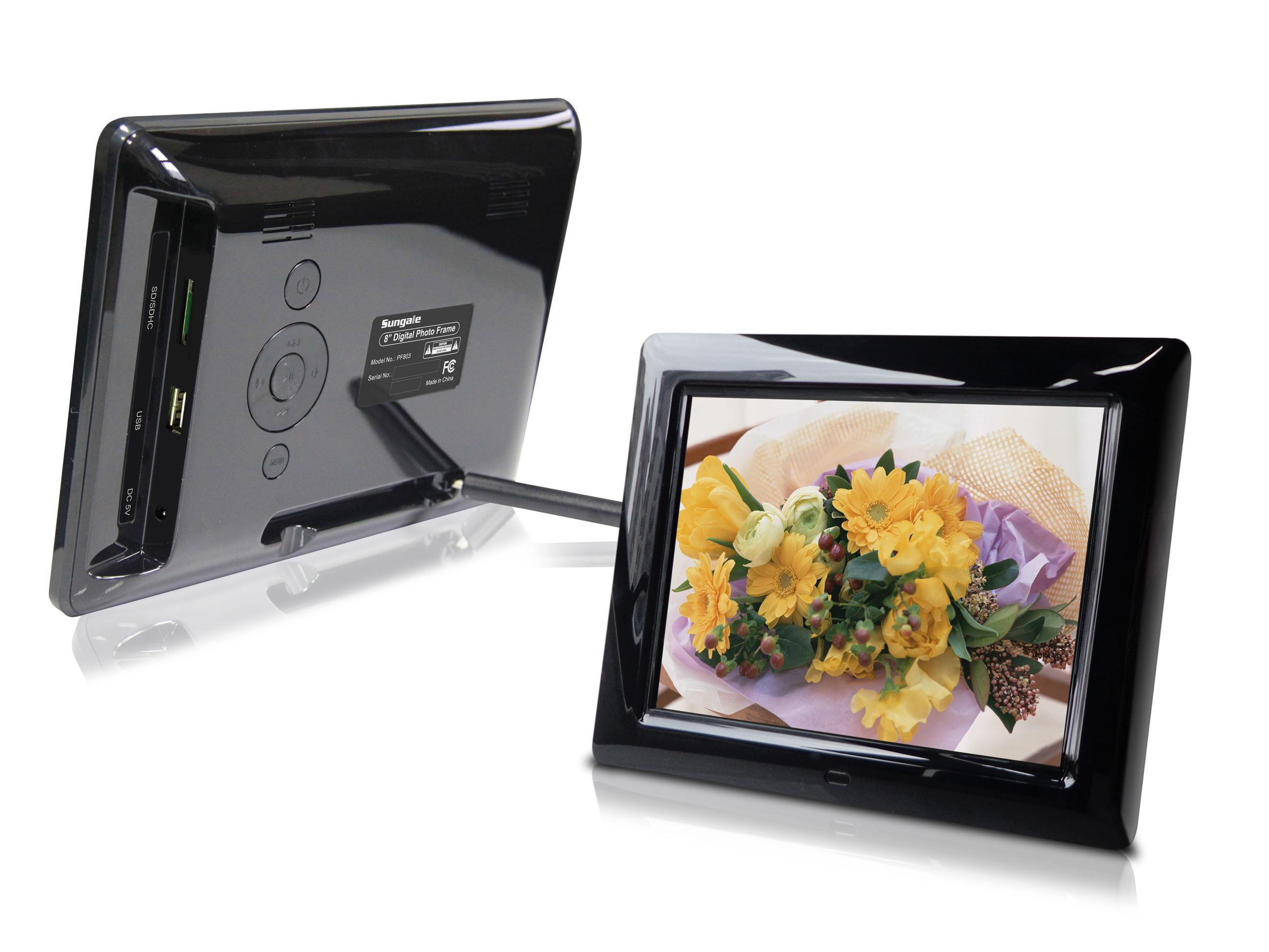 8-Inch Digital Photo Frame (Black), Hi-resolution, various ...