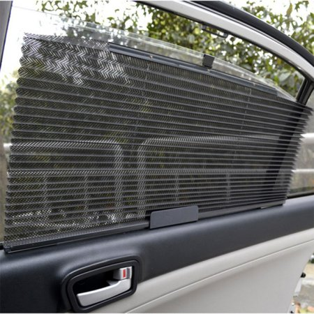 Retractable Car Side Window Sunshade Curtain Roller Premium Tear Resistant Blind Folding Sun shade Shield Sun Uv Glare Protection For Dog Children Baby, Infants &