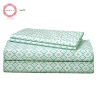 Auraa Essentials 200 TC 100% Cotton Percale Print 3 PC Twin Sheet Set