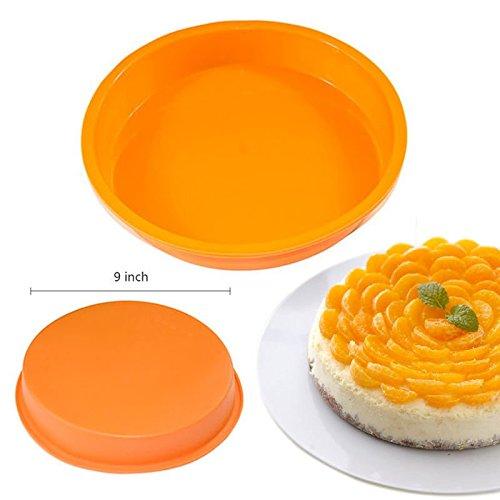 "9"" Round Mold Pan Muffin Chocolate Pizza Pastry Baking Tray Mould, 9 Round Silicone Cake Mold Pan Muffin Chocolate Pizza Pastry Baking Tray.., By Silicone Cake"