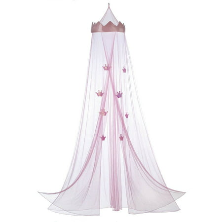 Bed Canopy Queen, Mosquito Bed Canopy For Girls, Tulle Pink Princess ...