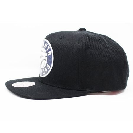 Mitchell and Ness Toronto Raptors Dark Hologram Black Snapback Hat - image 1 of 5