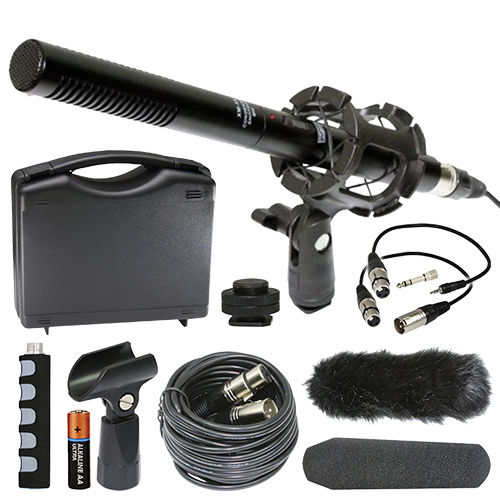 Nikon DL24-500 Digital Camera External Microphone Vidpro XM-55 13-Piece Professional Video & Broadcast Unidirectional Condenser Microphone Kit