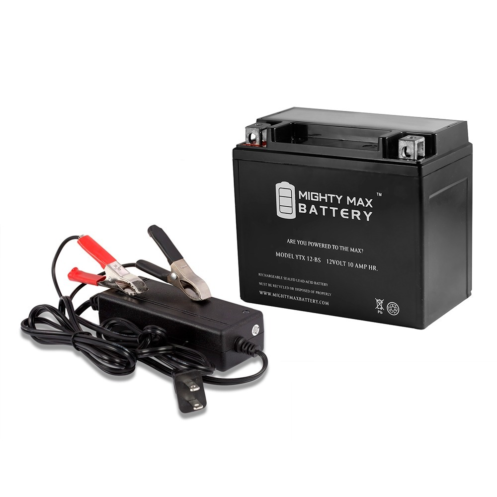 YTX12-BS Battery Replaces Go Kart Dirt Bike HS104-57 + 12V 2A Charger