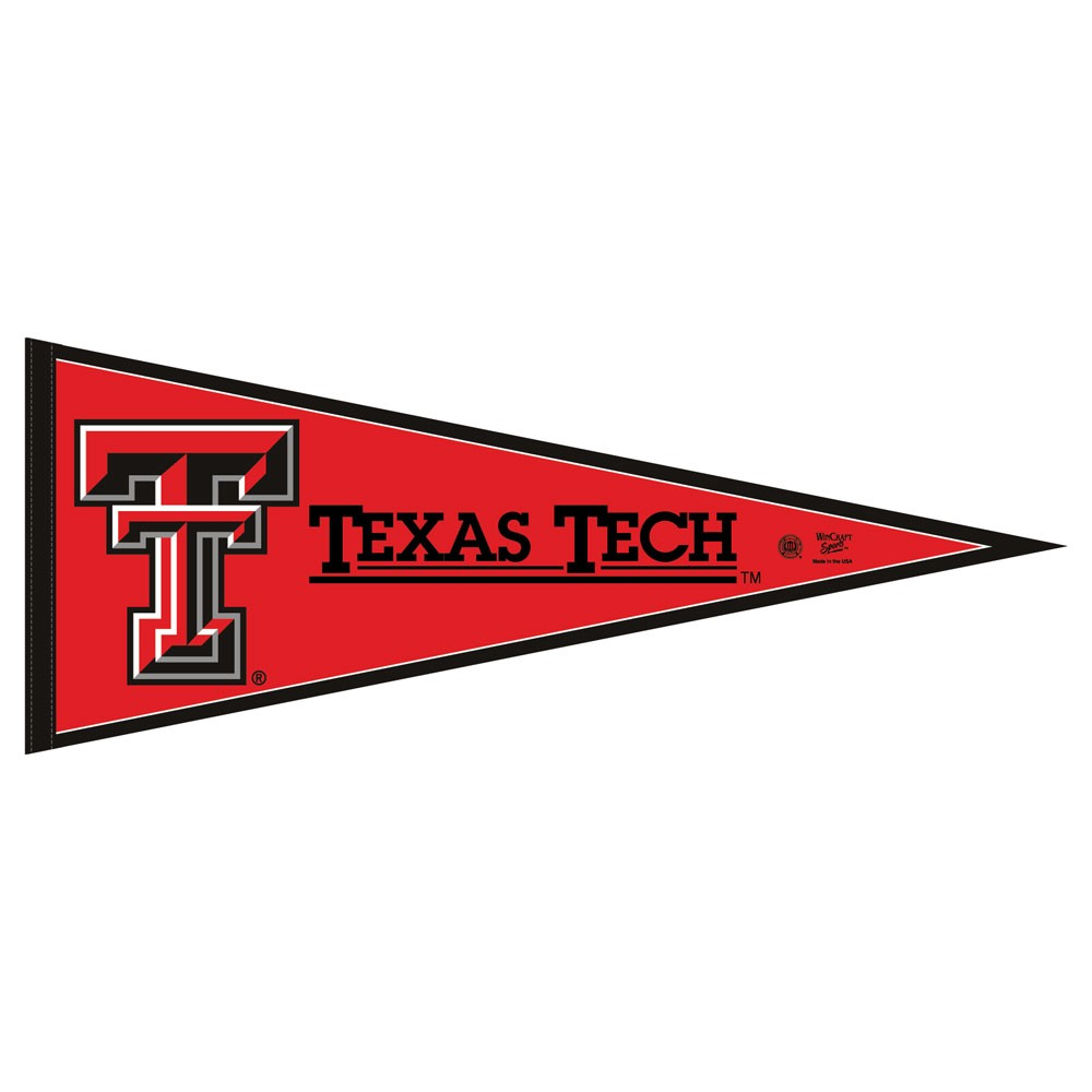 Texas Tech Red Raiders Official NCAA 12 inch x 30 inch  Felt Pennant by WinCraft