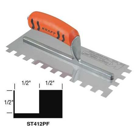Superior Tile Cutter Inc. And Tools 11, Trowel, Square Notch, ST412PF