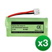 Replacement For BATT-6010 Cordless Phone Battery (500mAh, 2.4V, Ni-MH) - 3 Pack